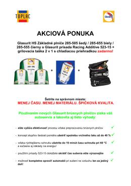 AKCIOVÁ PONUKA - Toplac SK, sro