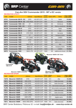 Can-Am SSV Commander 2015 - INT a EC verzia