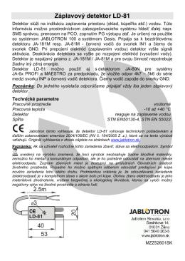 Záplavový detektor LD-81