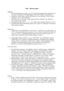 Správa pre IAD za Slovensko
