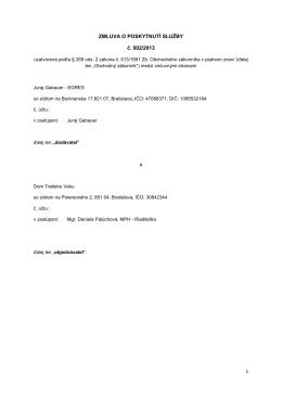 Zmluva č. 5/2013 - servisné služby na výpočtovú techniku