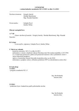 uznesenie OZ 32011