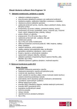 Obsah školenia pre študentov 2015