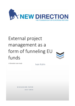 External project management as a form of funneling