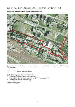 územný plán zóny východné v mestskej časti bratislava