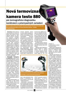 Nová termovízna kamera testo 880 - K