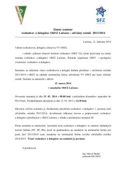 súťažný ročník 2013/2014
