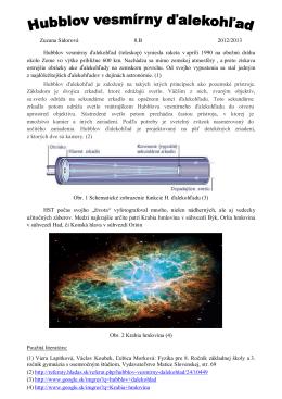 Zuzana Sidorová 8.B 2012/2013 Hubblov vesmírny ďalekohľad