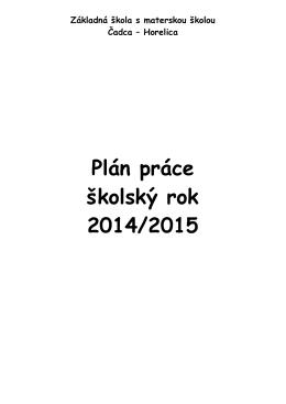 Plán práce školy_2014-2015.pdf - Základná škola s materskou