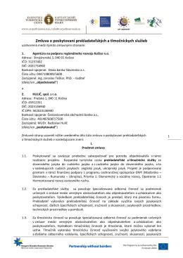 201205 - Agentúra na podporu regionálneho rozvoja Košice, no
