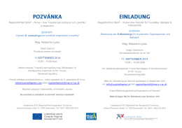 Mag. Natascha Ljubic 11.SEPTEMBER 2014 info