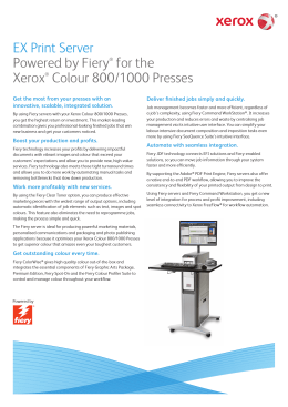 EX Print Server Powered by Fiery® for the Xerox® Colour