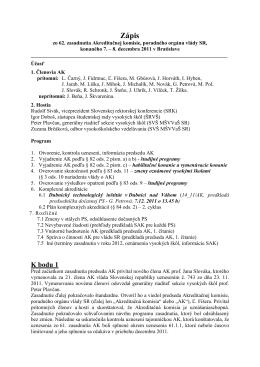 Zápis - Akreditačná komisia