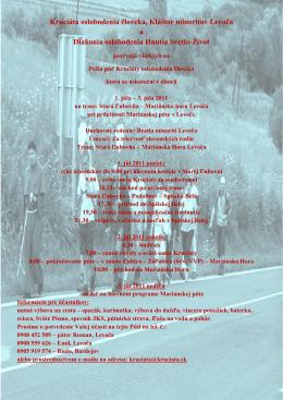 plagát na stiahnutie - Kruciáta oslobodenia človeka