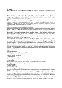 310 VYHLÁŠKA Ministerstva životného prostredia