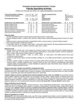 Leták FŠT 2013-2014.pdf - Trenčianska univerzita Alexandra
