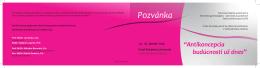 Pozvánka - Slovenská genekologicko