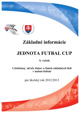 Základné informácie - Jednota futbal cup (pdf