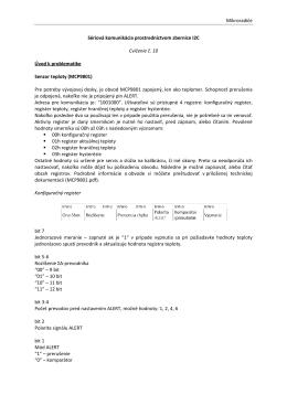 Mikroradiče Sériová komunikácia prostredníctvom zbernice I2C