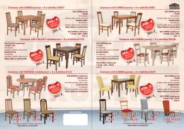 stôl JUMBO pevný + 4 x stolička TATA