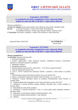 Uznesenia OZ č. 472/3/2014