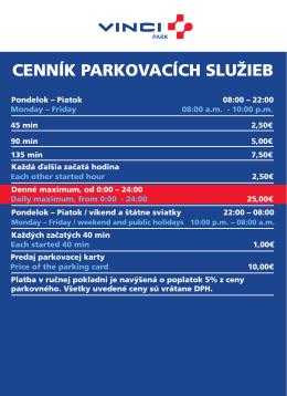 cenník pre garáž Opera (PDF, 28kb)