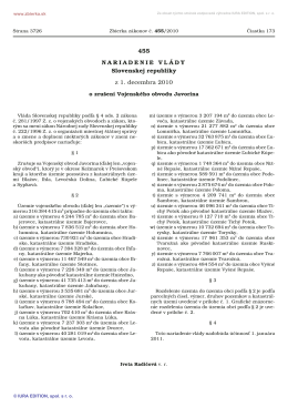 455/2010 Nariadenie vlády Slovenskej republiky o zrušení