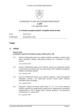 č. 653 Vláda - AukciaAs.sk