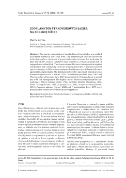 Illyová - Zooplanktón štrkoviskových jazier... (1 Mb, pdf)