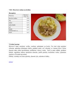 Bravčové mäso na hrášku