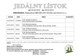 02.03.2015 do - Obec Mníšek nad Hnilcom