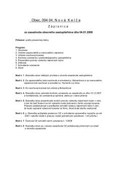 Zápisnice a uznesenia r.2008