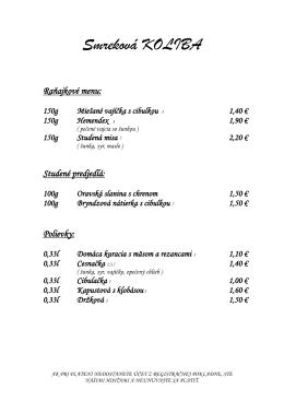 Prezrite si náš jedálny lístok (formát PDF, 142KB)