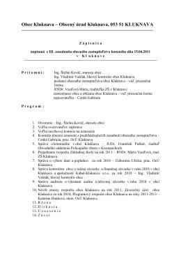Zápisnica OZ - 15.04.2011