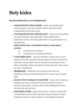 Biely kódex - ski javorovica