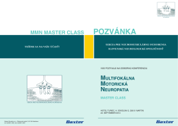 Multifokálna motorická neuropatia Master Class