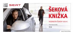 šeková knižka - SEAT Slovensko
