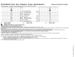 601701/000100 Praha - Brno - Bratislava - Zvolen