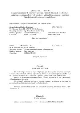 nájomná zmluva - stredná odborná škola Želovce záhradník