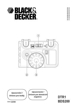 Návod k použití - Nářadí Black and Decker