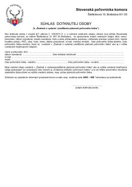 Súhlas dotknute~.pdf - Slovenská poľovnícka komora