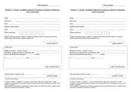 Žiadosť o vydanie / predĺženie platnosti* preukazu na žiacku