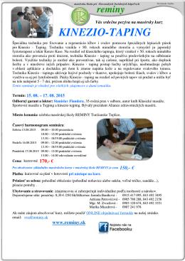 KINEZIO-TAPING - Masérska škola REMINY