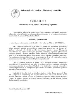 Vyhlásenie štrajku 19.02.2015