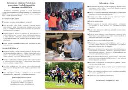 Informácie o škole Informácie o štúdiu na Piaristickom