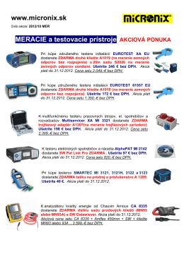 www.micronix.sk MERACIE a testovacie prístroje AKCIOVÁ PONUKA