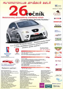 Reklamní partneri : - Mesto Spišská Belá