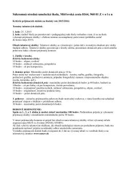 Prijímacia skúšky šk.r. 2015/16