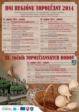 DNI REGIÓNU TOPOĽČANY 2014