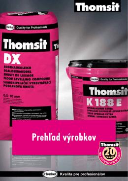 Katalóg Thomsit 2013